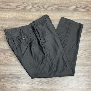 Zanella Chocolate Brown Sharkskin Pants 42x30